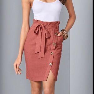 Venus Linen Skirt Women's 14 Belted New